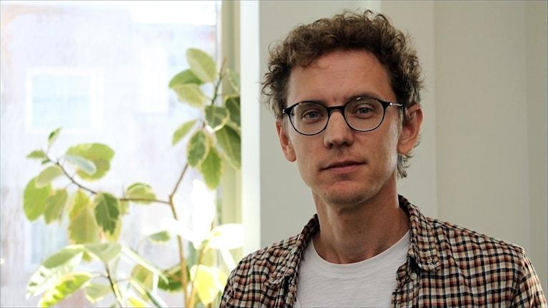 Jonas Brännberg, Rättvisepartiet Socialisterna. Foto Stig-Arne Nordström/Sveriges Radio.