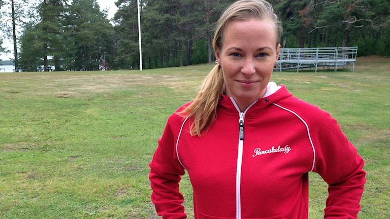 Elisabeth Rosenbrand på Gültzauudden i Luleå. Foto: Malin Winberg/Sveriges Radio.