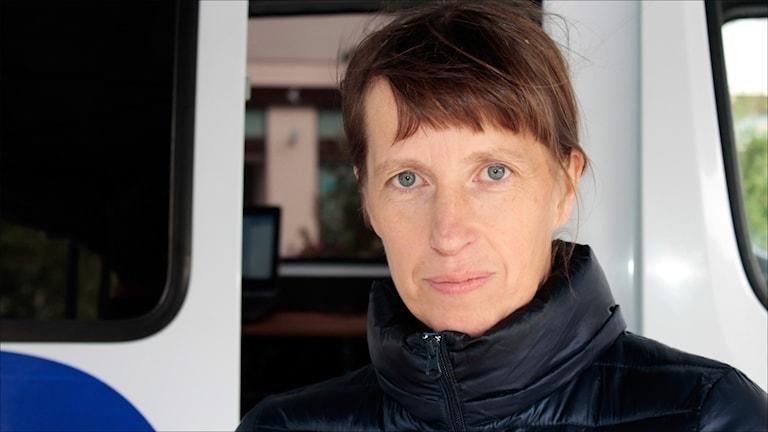 Catarina Ask i Miljöpartiet Boden. Foto Stig-Arne Nordström/Sveriges Radio.