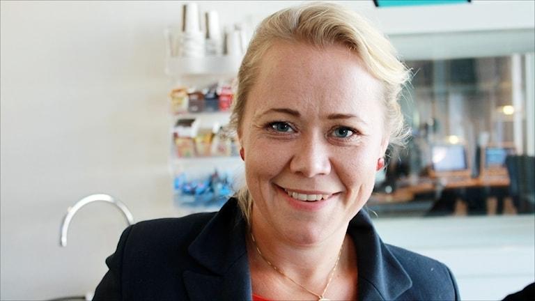 Hannah Bergstedt (S). Foto Stig-Arne Nordström/Sveriges Radio.