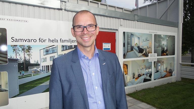 Niklas Nordström (S), kommunalråd Luleå. Foto: Carin Sjöblom/ Sveriges Radio.