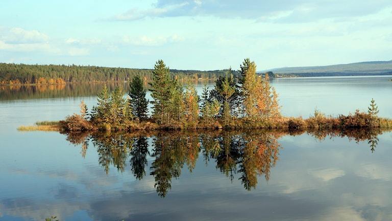 Lyssnarbild: Spegelblankt i Jokkmokk av Tore Sundström i Roknäs.