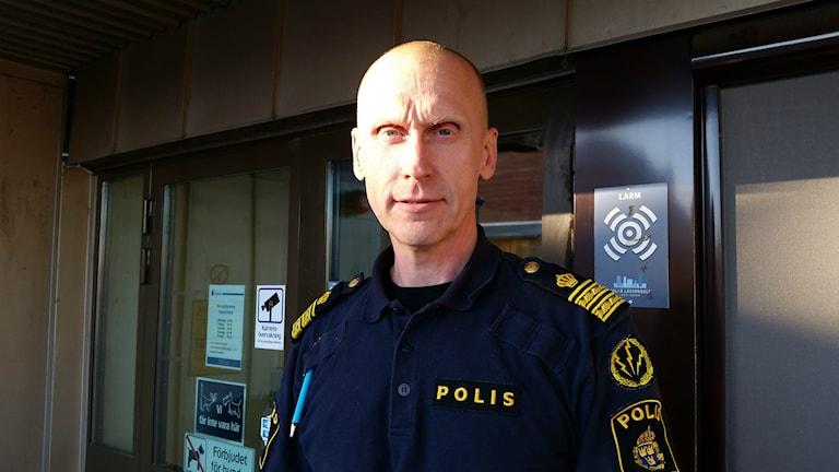 Kenneth Vikström, chef för polisens länskommunikationscentral i Norrbotten. Foto: Carin Sjöblom/ Sveriges Radio.