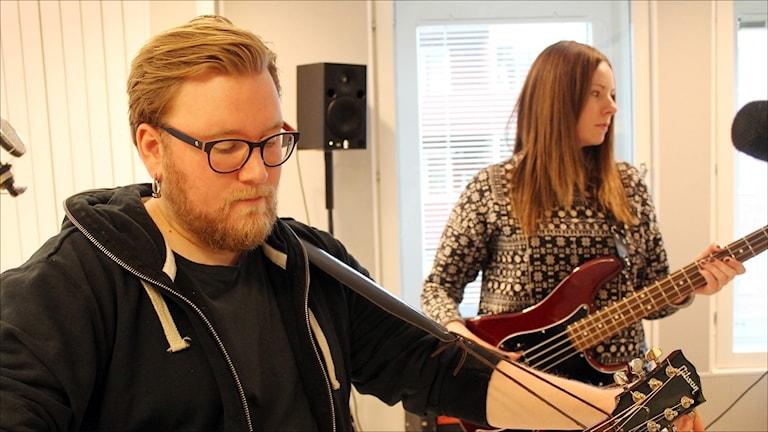 Jonas Pietikäinen och Höstorkestern. Foto Stig-Arne Nordström/Sveriges Radio.