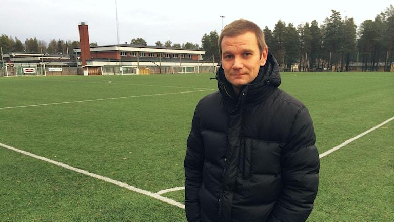 Andreas Petterson, en av Norrbottens eldsjälar. Foto: Linnea Luttu/Sveriges Radio.