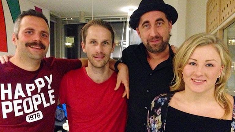 Anders Viklund, Pär Eriksson, Sebastian Wiklander och Ida Brännström. Foto: André Pettersson/Sveriges Radio.