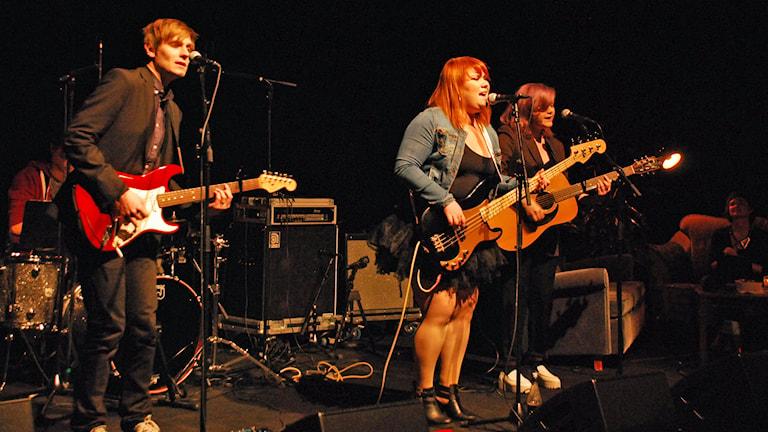 Iris Julie i Musikscen Norrbotten. Foto: Sveriges Radio.