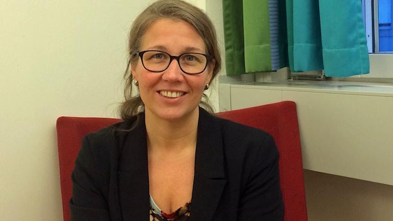 Tanya Jendersen, strateg inom området jämställdet och jämlikhet på Norrbottens läns landsting. Foto: Eva Elke/Sveriges Radio.