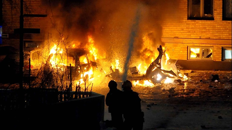 Gasexplosion i centrala Luleå, Älvgatan. Foto: Alf Lindbergh/Pressbilder.