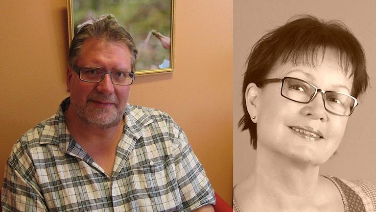 Per-Axel Karlsson (t.v) chefsöverläkare på Rättsspykiatriska kliniken i Öjebyn. Kikki Sandström har utsatts för stalkning