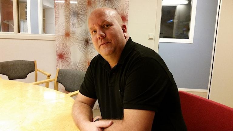 Stefan Erixon, vd Nåidens bygg. Foto: Carin Sjöblom/ Sveriges Radio.