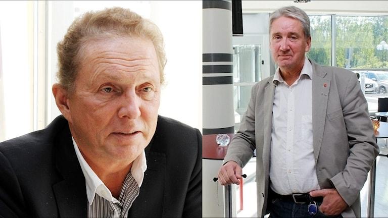 (t.v) Nya landstingsrådet Kenneth Backgård, (NS) och (t.h) Kent Ögren (S) Landstingsråd Norrbotten.