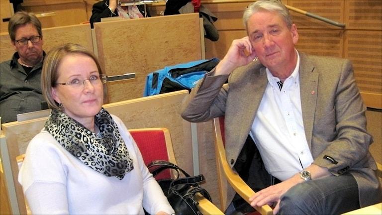 Maria Stenberg och Kent Ögren. Foto Stig-Arne Nordström/Sveriges Radio.