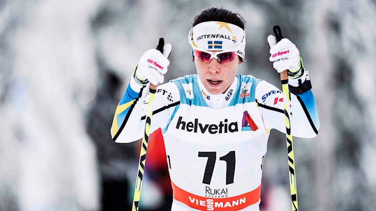 Charlotte Kalla. Foto: Anders Wiklund / TT