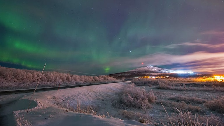 Veckans bild  Norrsken över Luossavaara - P4 Norrbotten  a45dae0f051ef