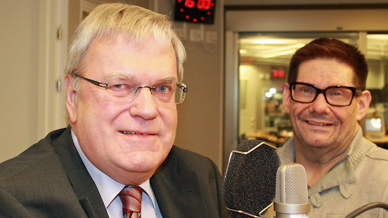 Per-Ola Eriksson (C) och Bengt-Urban Fransson (S). Foto: Lena Callne/Sveriges Radio.