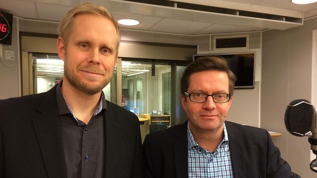 Emil Svanberg LTU Business och Roland Larsson professor i maskinelement