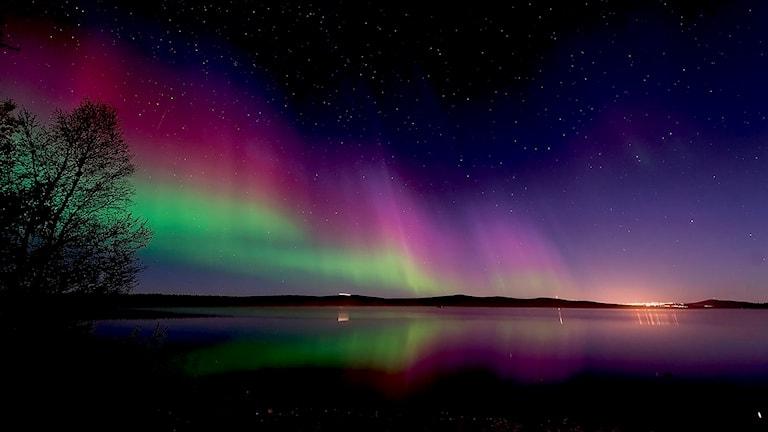 Bilden med Norrsken söder om Kiruna var med i tävlingen andra veckan i december. Foto: Anders Nilsson, Kiruna.