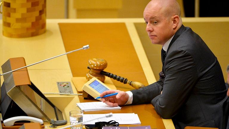 Björn Söder (SD), talman i riksdagen. Foto: Henrik Montgomery/TT.