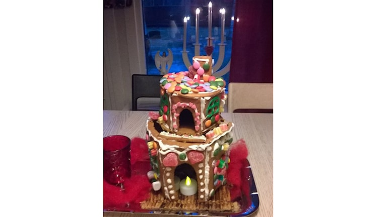 """""""Bamses hus"""" är finaste pepparkakshuset. Inskickat av Elsa Larsson, 9 år i Gammelstad."""
