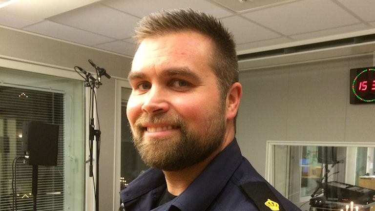 Per Hartman, områdespolis Luleå. Foto: Lena Callne, Sveriges Radio.