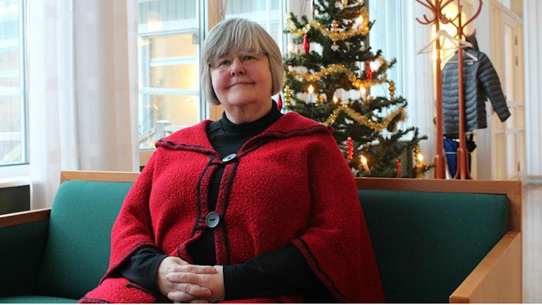 Ulla-Lena Bäckman är telefonjourens samordnare för Västerbotten och Norrbotten. Foto: David Ohlsson/Sveriges Radio