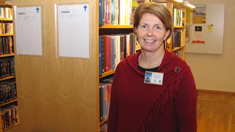 Anne-Mari Angeria, Luleå kommuns samordnare för finskt förvaltningsområde. Foto: Hjalmar Lindberg/Sveriges Radio
