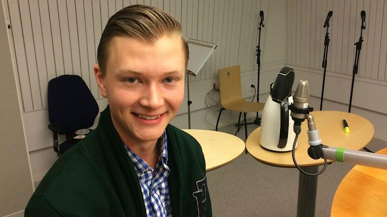 Jesper Jolma, P4 Norrbottens studentkorre. Foto: Anton Bennebrant/SR