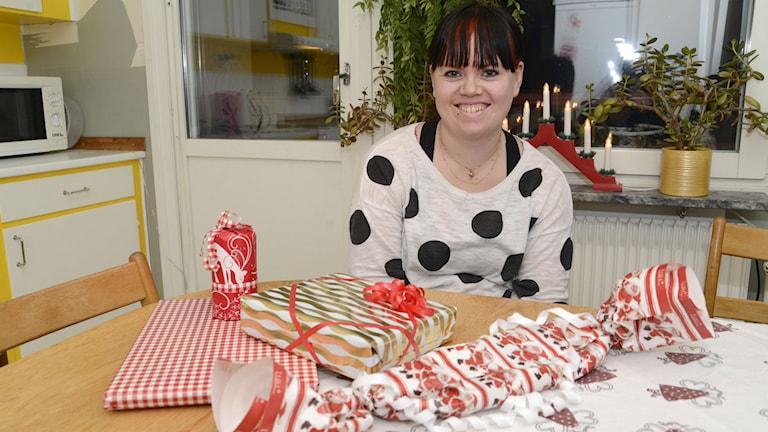 Sandra Eriksson, julklappshjälpen i Kalix.