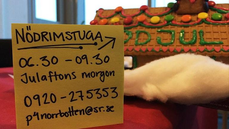 P4 Norrbotten hjälper till med nödrimmen. Foto: Linnea Luttu/Sveriges Radio.