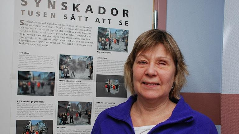 Karin Sundbaum, ombudsman för Synskadades Riksförbund. Foto: Turi Wennberg/Sveriges Radio.