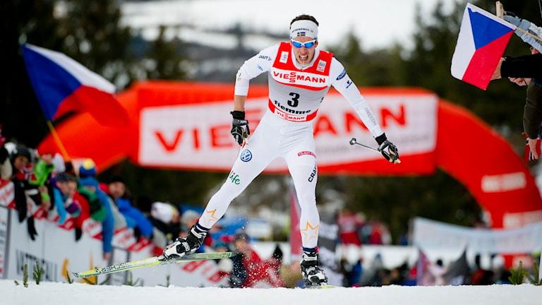 Marcus Hellner i Tour de Ski 2012. Foto: Pontus Lundahl/TT.