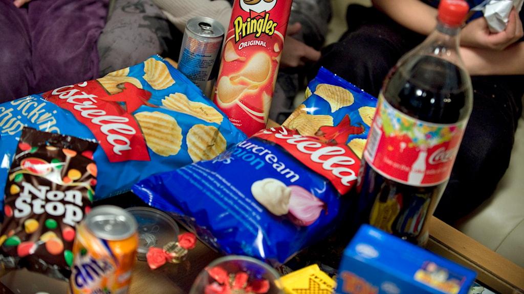 Chips, godis och läsk. Foto: Claudio Bresciani/TT.