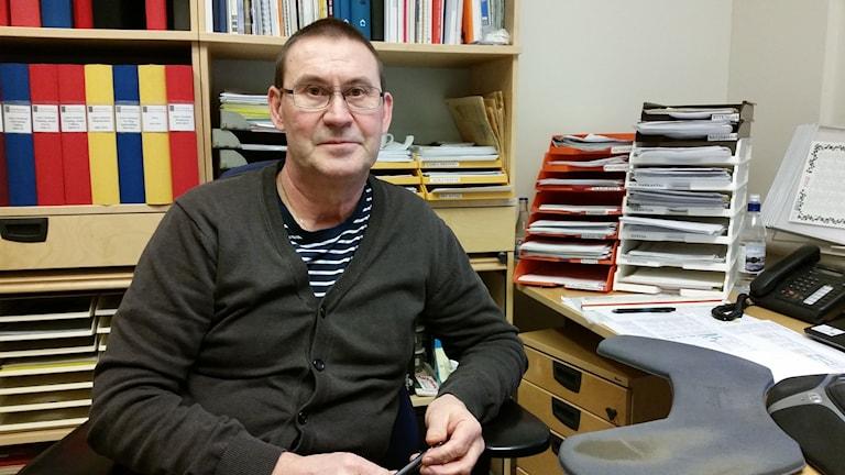 Anders Stenlund, sektionschef för gatudriften i Luleå kommun. Foto: Carin Sjöblom/ Sveriges Radio.