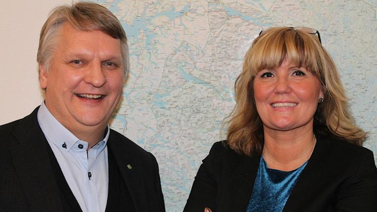 Ingela Lekfalk, Företagarnas regionchef, Kurt Wennberg, projektledare. Foto: Turi Wennberg/Sveriges Radio.