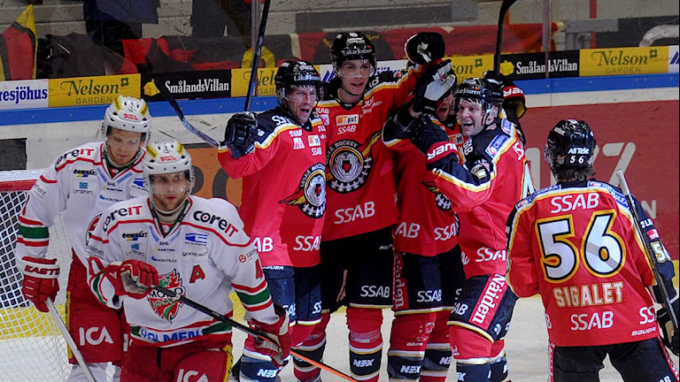 Luleå hockey kunde vinna över Modo tillslut. Foto: Alf Lindbergh/Pressbilder