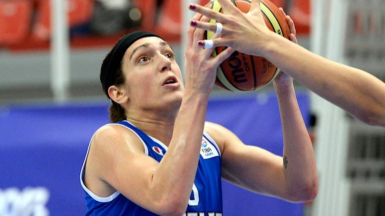 Ilaria Zanoni i italienska basketlandslaget. Foto: Janerik Henriksson/TT.