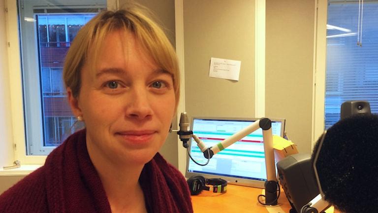 Erica Forsgren, samordnare biblioteken i Norrbotten. Foto: Eva Elke/P4 Norrbotten.