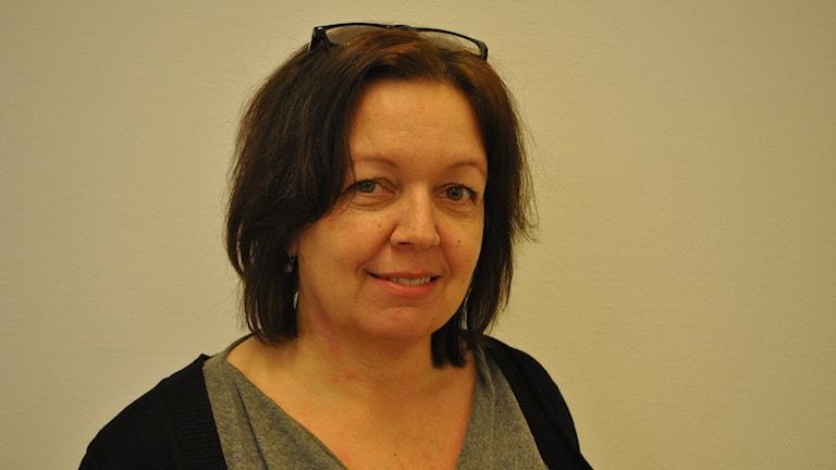 Maarit Enbuske, skolchef Övertorneå. Foto: Malin Winberg, Sveriges Radio.