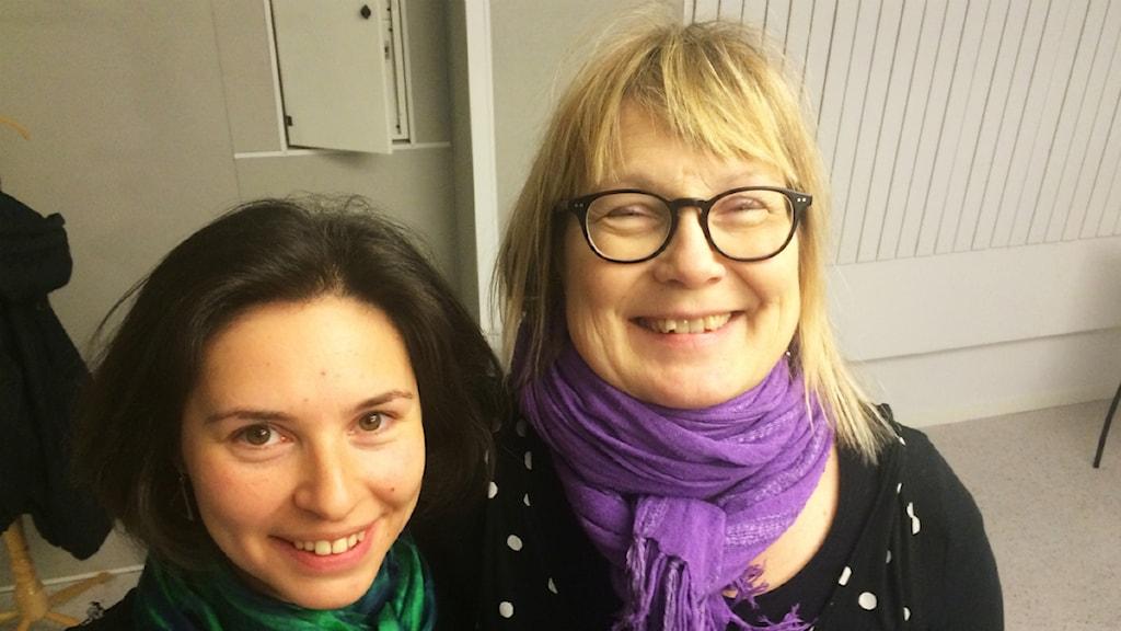 Monica Åslund och Eugenia Segerstedt. Foto: SR/Anton Bennebrant