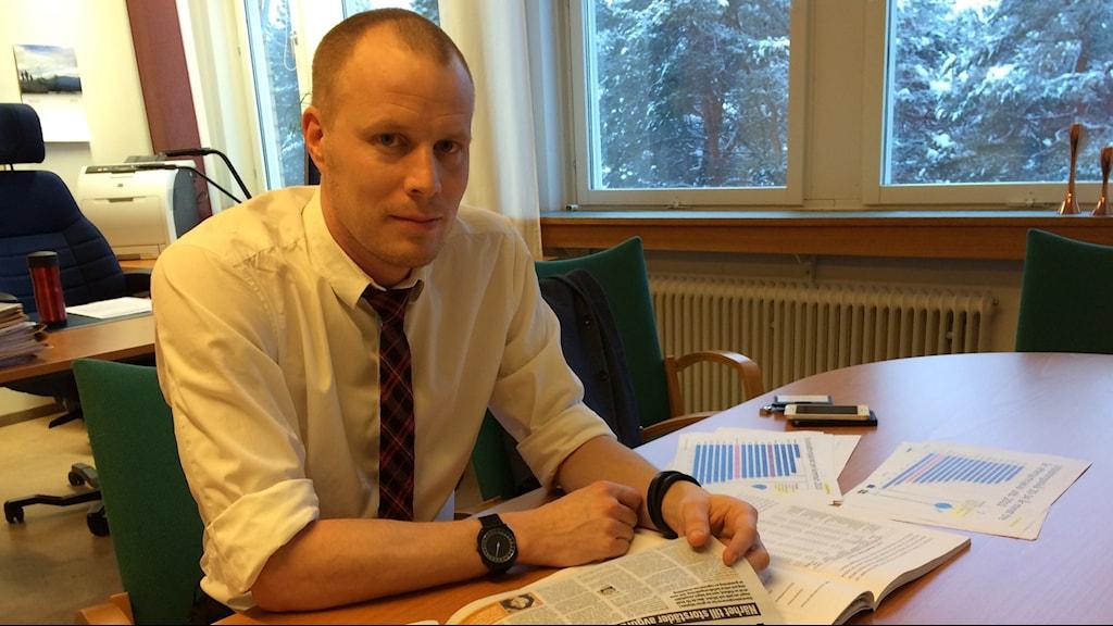 Andreas Lind, näringslivschef länsstyrelsen. Foto: Eleonor Norgren/P4 Norrbotten