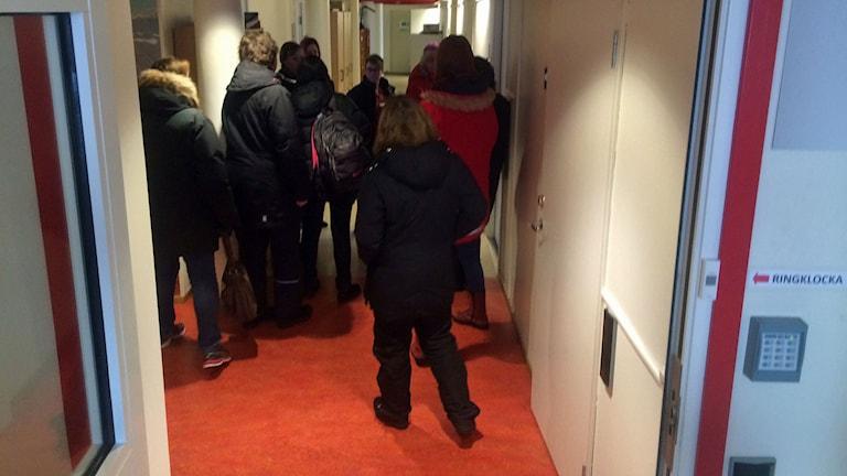 Distriktssköterskorna i Boden lämnar in sina avskedsansökningar till Bodens kommun. Foto: David Zimmer/Sveriges Radio.
