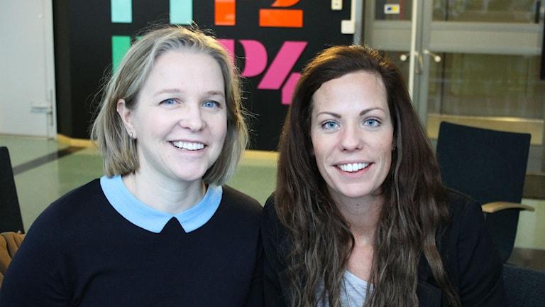 Eva-Lena Johansson Bergman och Louise Nelson från Föräldrasupporten i Luleå. Foto: Linnea Luttu/Sveriges Radio.