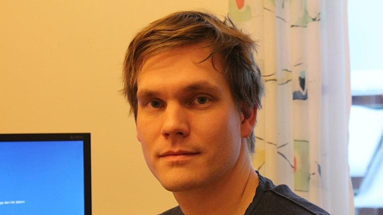 Markus Broman, överläkare på Missbruks- och Beroendeavdelningen vid Sunderby sjukhus. Foto: David Ohlsson/Sveriges Radio.