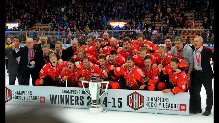 Luleå Hockey vann Champions Hockey League. Foto: Alf Lindbergh/Pressbilder