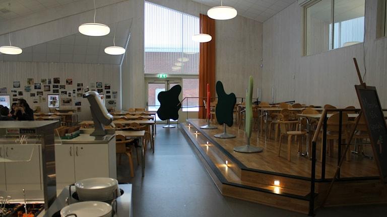 Matsalen på Furuparkskolan i Luleå. Foto: Turi Wennberg/Sveriges Radio.