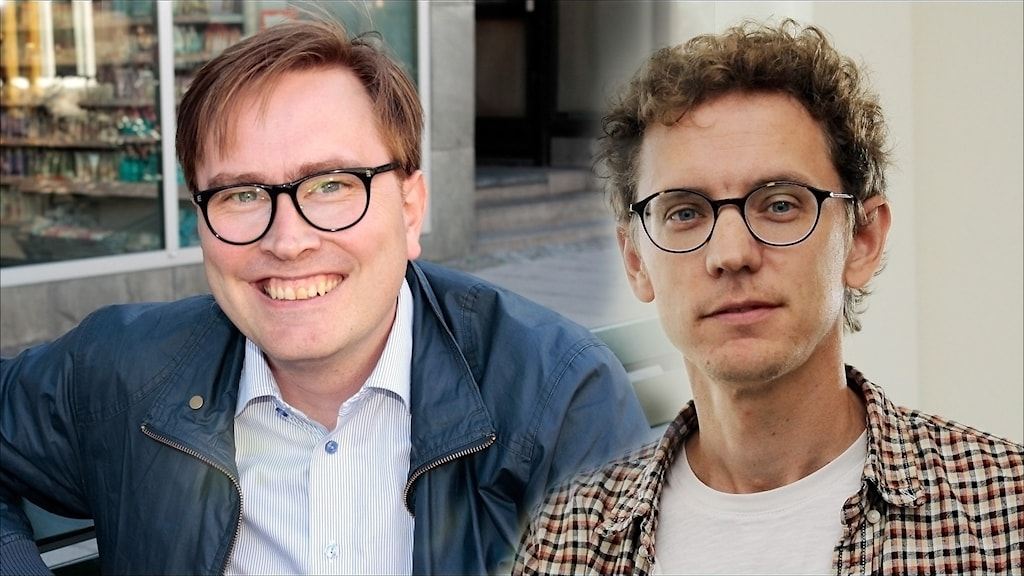 Tomas Olofsson (FP) och Jonas Brännberg (RS. Foto Stig-Arne Nordström/Sveriges Radio.