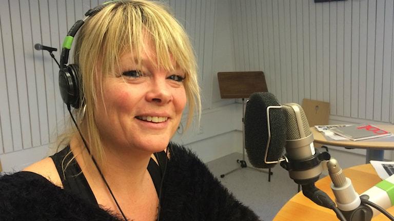 Sångfågeln Britta Bergström från Luleå. Foto: SR/Anton Bennebrant