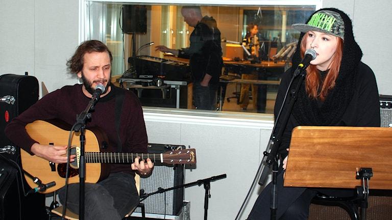 Stistrup är Veckans färsking med låten To build a ship. Foto: Hjalmar Lindberg/Sveriges Radio.