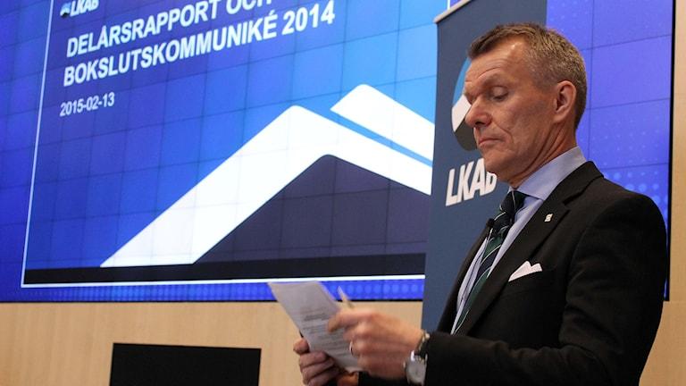 LKAB:s vd Lars-Eric Aaro. Foto: Alexander Linder/ Sveriges Radio.